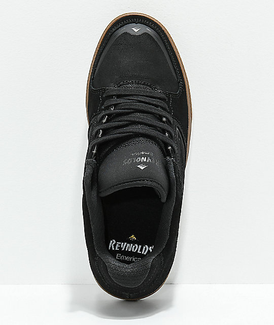 Emerica Reynolds G6 Black & Gum Suede Skate Shoes