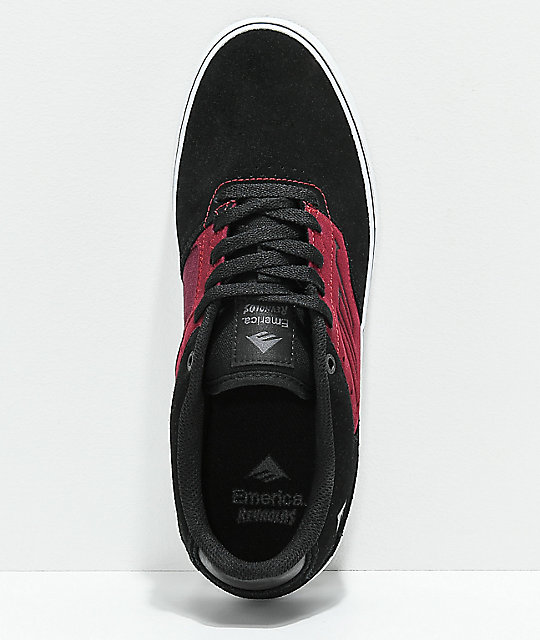 Emerica Reynolds Low Vulc Blackberry & White Skate Shoes