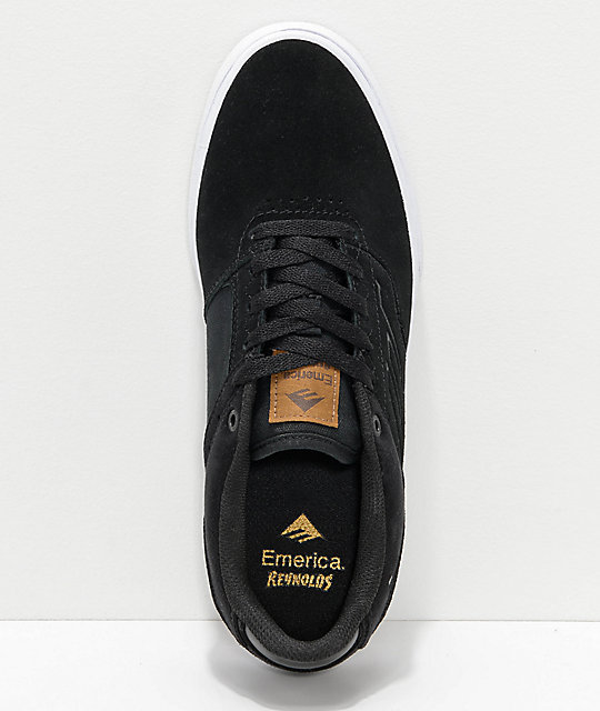 Emerica Reynolds Vulc Low Black, White & Brown Skate Shoes
