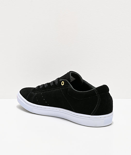 Emerica Romero Americana Black, White & Gold Skate Shoes