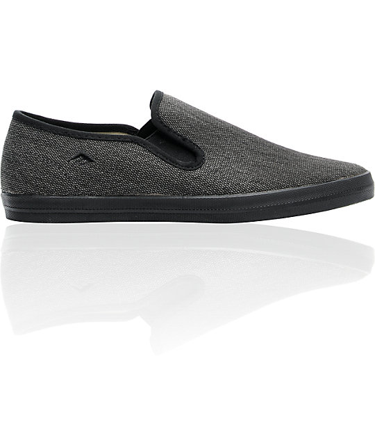 Emerica The China Flat Black Chillseekers Skate Shoes