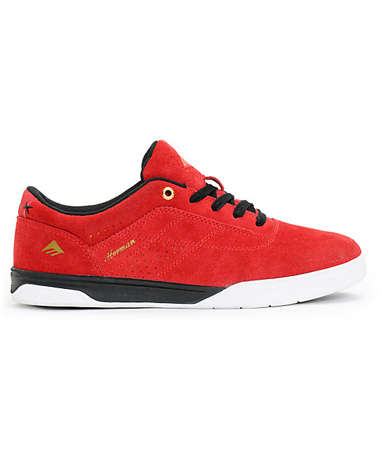 Emerica The Herman G6 Red, White & Black Suede Skate Shoes