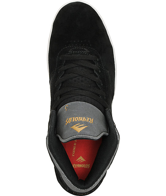 Emerica The Reynolds Black Suede Skate Shoes