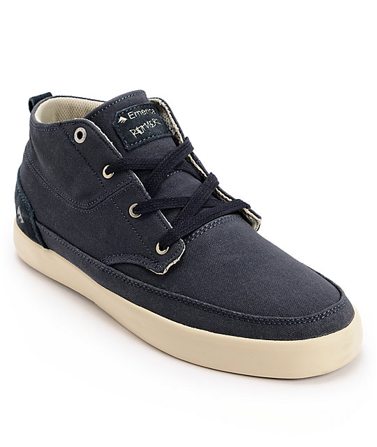 Emerica Troubador Leo Romero Navy Canvas Shoes