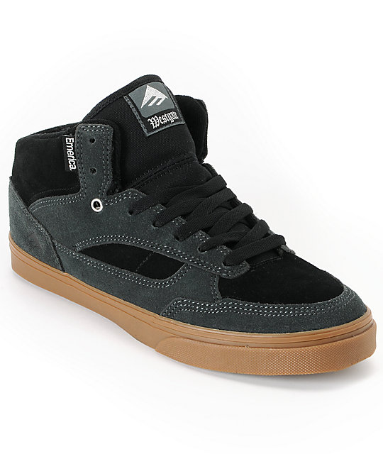 Emerica Westgate Grey & Black Suede Skate Shoes