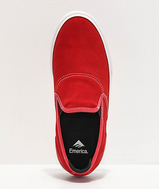 Emerica Wino G6 Red Slip-On Skate Shoes