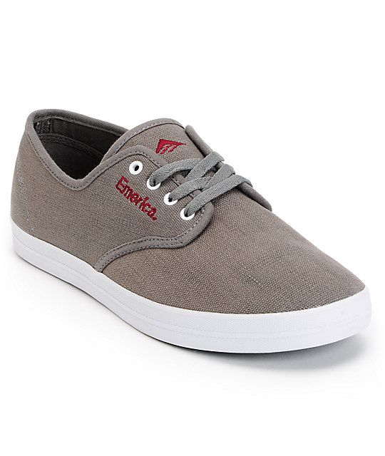 Emerica Wino Grey & Burgundy Shoes