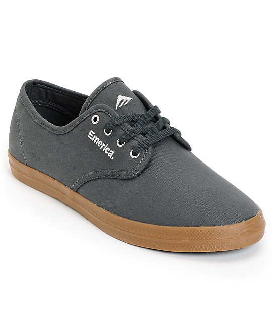 Emerica Wino Grey & Gum Canvas Shoes