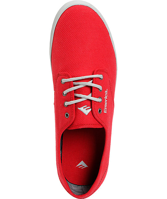 Emerica Wino Red & Grey Tie Dye Shoes