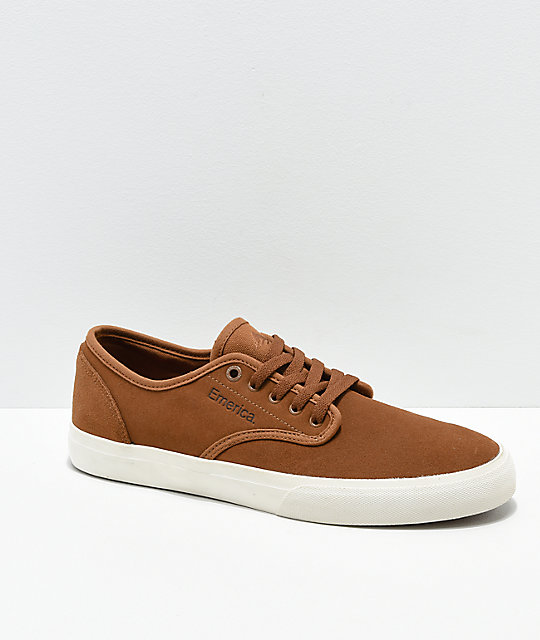 Emerica Wino Standard Tan Suede Skate Shoes