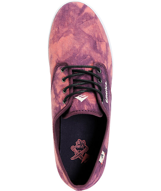 Emerica x Altamont Wino Purple Tie Dye Shoes