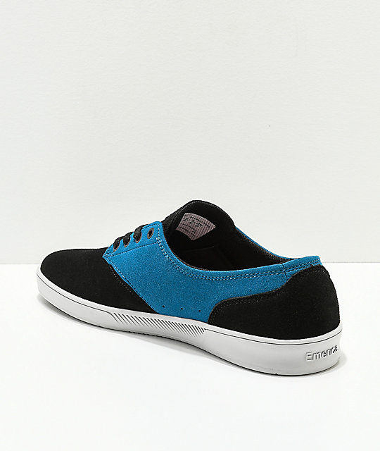 Emerica x Toy Machine Romero Laced Black & Blue Skate Shoes