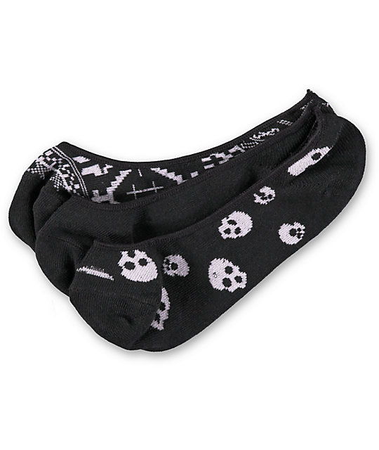 Empyre 3 Pack FTW Skull Black No Show Socks
