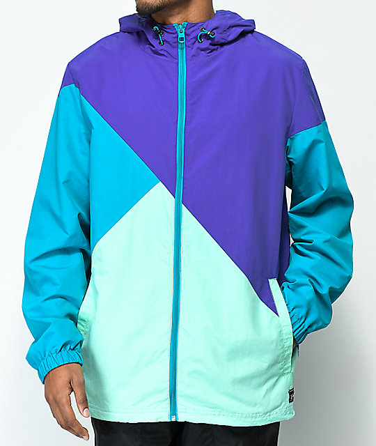 Empyre Access Purple & Blue Windbreaker Jacket
