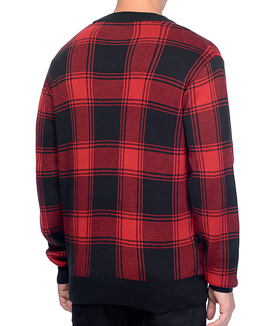 Empyre Ace Red & Black Plaid Cardigan