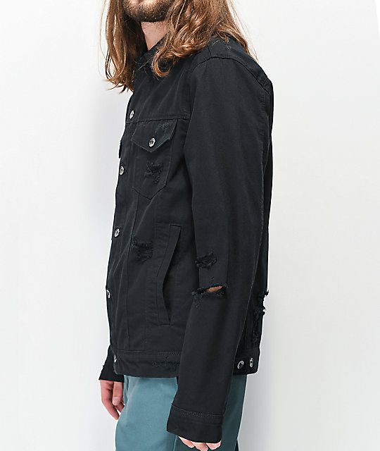 Empyre Ace Shred Black Denim Jacket