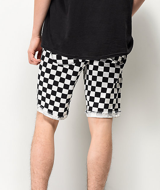 Empyre Albany Checker Denim Shorts