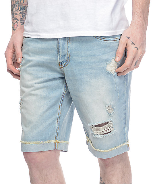 Empyre Albany Westport Distressed Denim Shorts