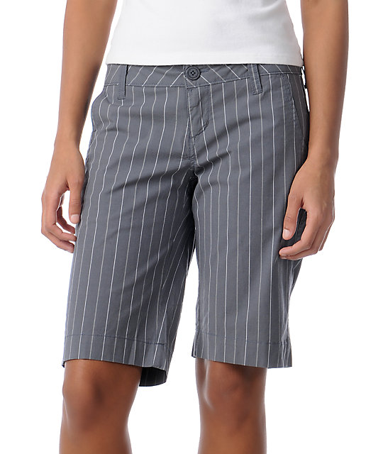 Empyre Amarillo Grey Stripe Shorts