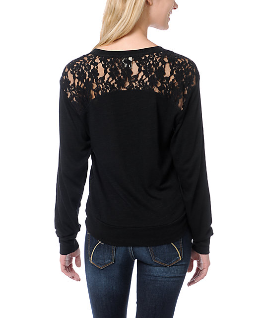 Empyre Amelia Black Lace Top