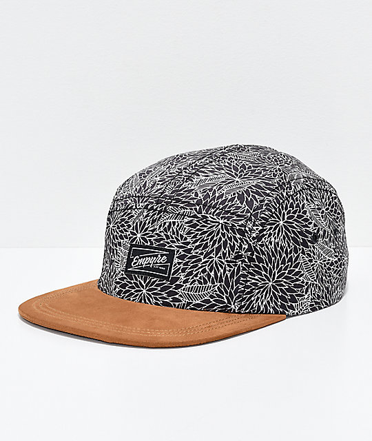 95ca3349179 Empyre Angelo Black 5 Panel Strapback Hat