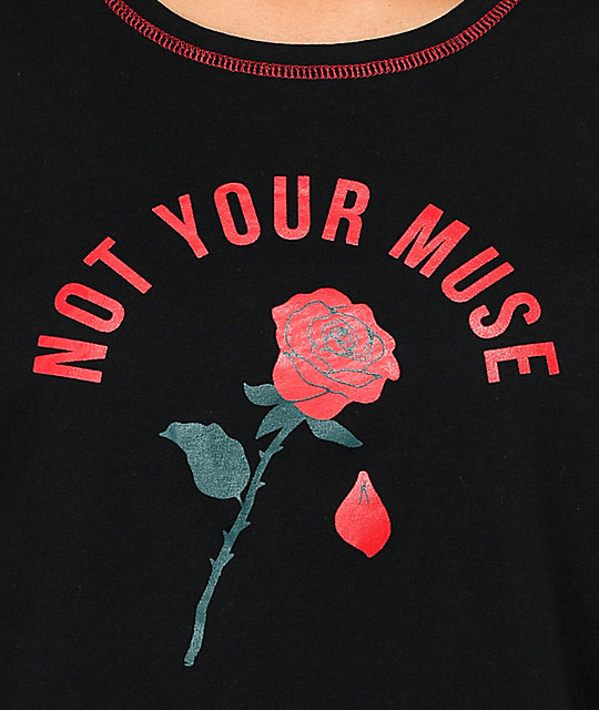 Empyre Annette Not Your Muse Black T-Shirt