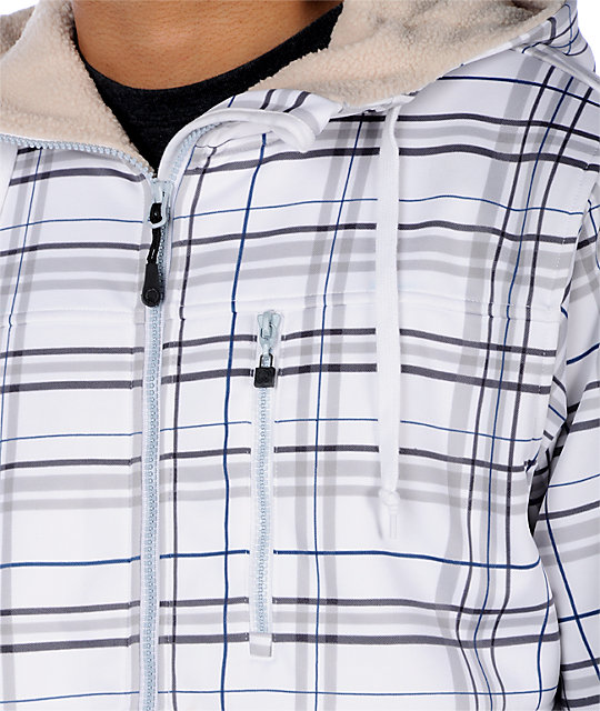 Empyre Apocalypse White Plaid Tech Fleece Jacket