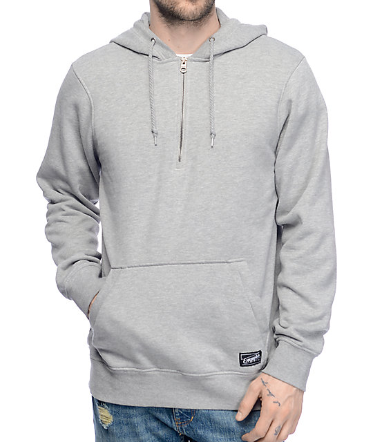 Empyre Based Quarter Zip Grey Hoodie