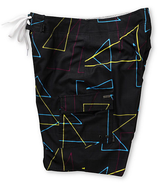 Empyre Beacon Black 4-Way Stretch Board Shorts