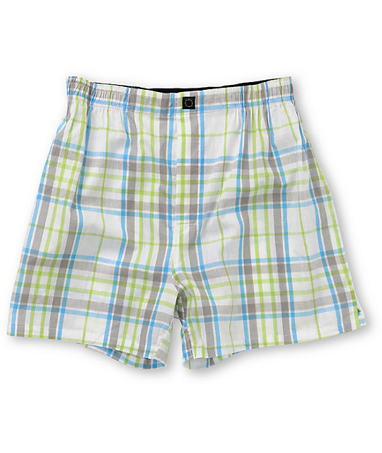 Empyre Before Dusk White Plaid Boxers