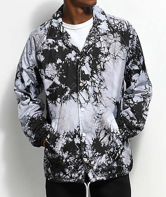 Empyre Ben Black & Crystal Washed Coaches Jacket
