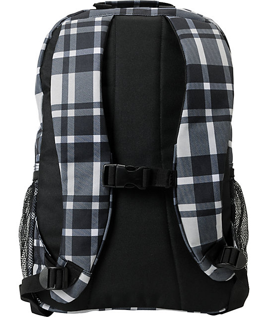 Empyre Black & Grey Plaid Roll Call Laptop Backpack