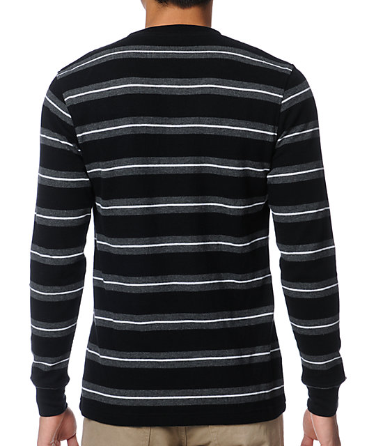 Empyre Black Striped Long Sleeve Thermal Shirt