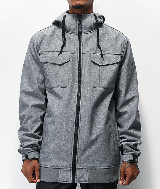 Empyre Blizzard Grey Softshell 10K Snowboard Jacket