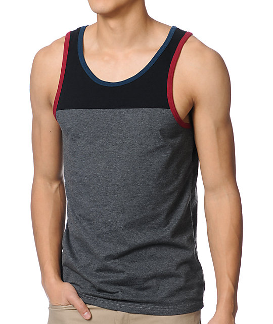 Empyre Block Party Black & Charcoal Tank Top