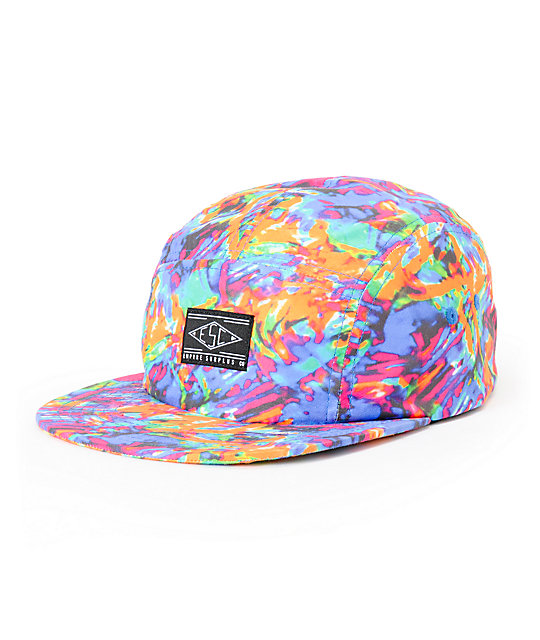 d6f9be1bfdf80 Empyre Blurred Tie Dye 5 Panel Hat