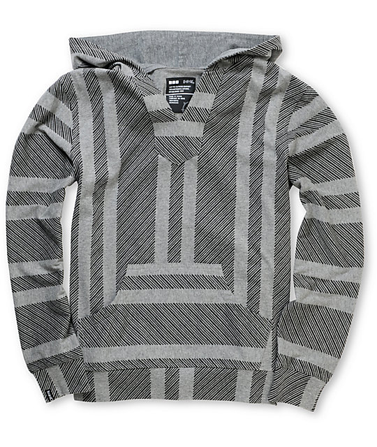 Empyre Boys Fransisco Lightweight Grey Knit Pullover Hoodie