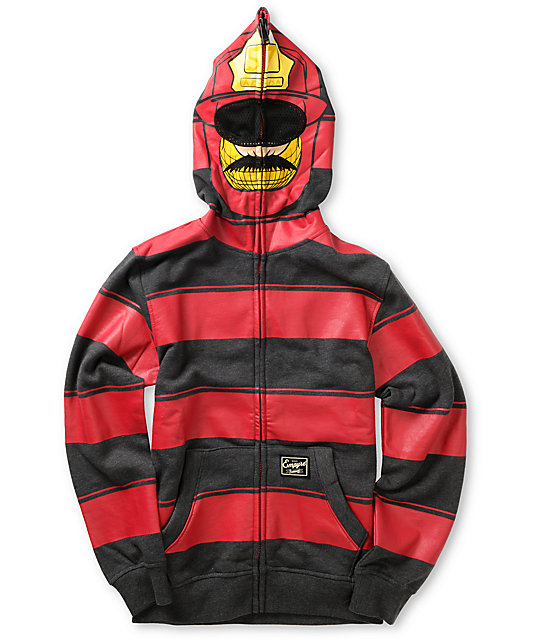Empyre Boys Pyro Full Zip Face Mask Hoodie