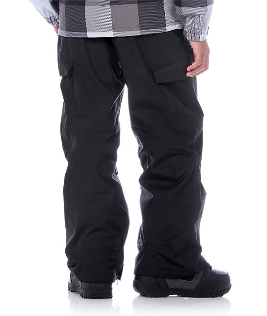 Empyre Boys Recon Black Cargo Snowboard Pants