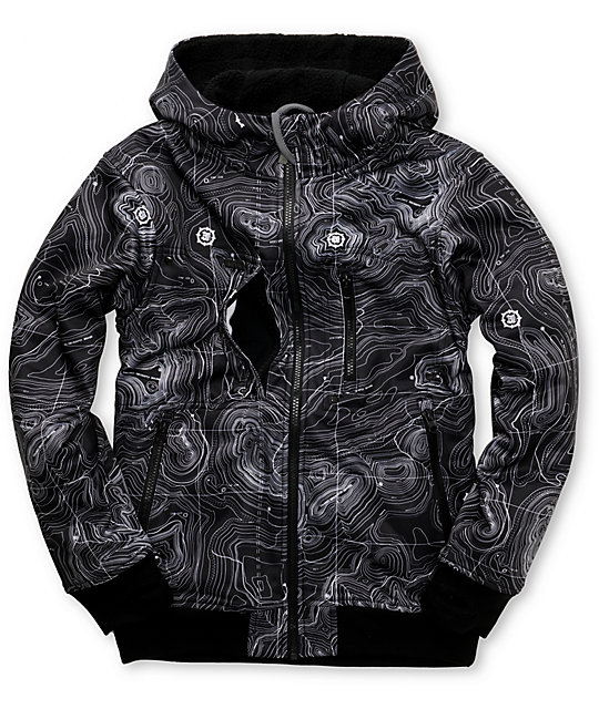 Empyre Boys Recon Topo Black Tech Fleece