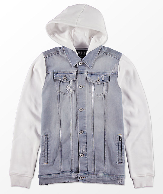 Empyre Boys Sidecar 2Fer Denim & Fleece Jacket ...