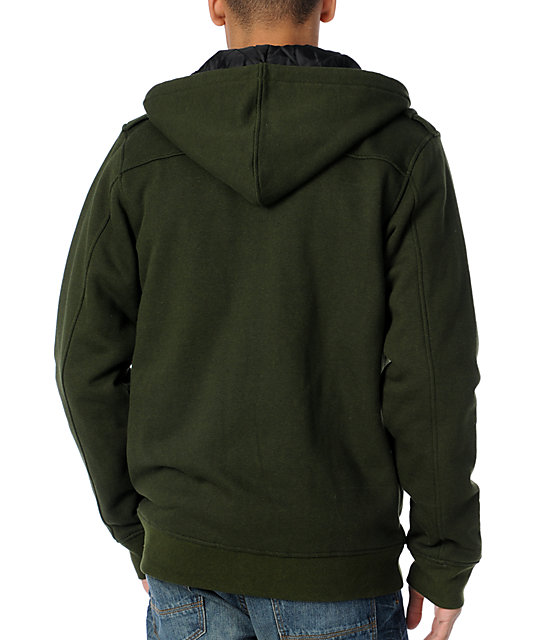 Empyre Brawler Green M65 Insulated Zip Up Hoodie