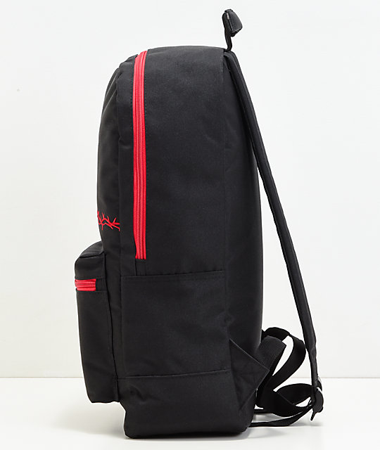 Empyre Brenda Barbed Wire Black & Red Backpack