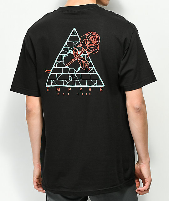 Empyre Broken Roses Black T-Shirt