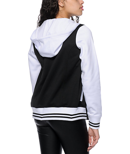 Empyre Brooke Black Varsity Tech Fleece Jacket