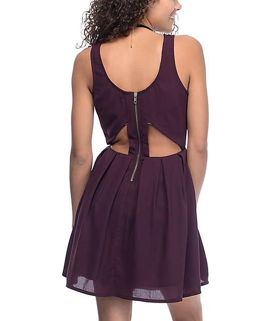 Empyre Caireann Burgundy Cutout Dress