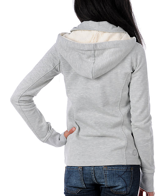 Empyre Canopy Grey Pea Coat Sweatshirt Jacket