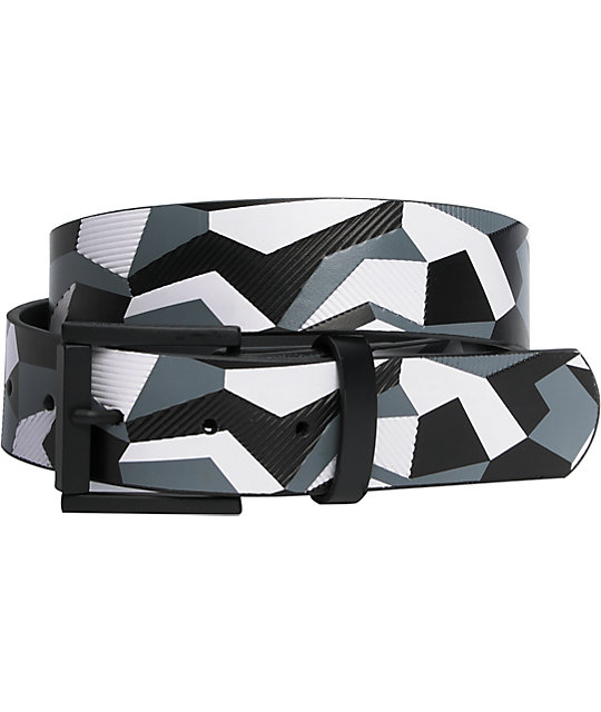 Empyre Canyon Geo Print Black & White Belt