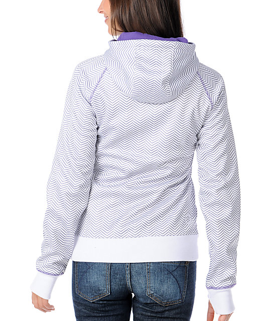 Empyre Canyon Purple & Grey Herringbone Tech Fleece Jacket