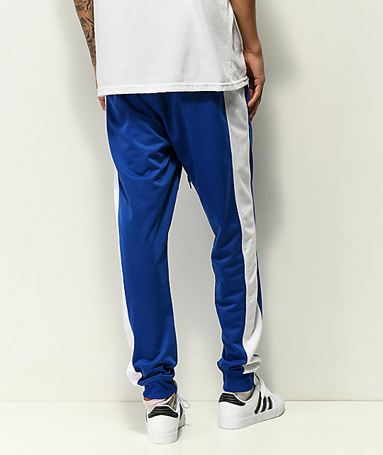 Empyre Caples Blue & White Cuff Track Pants